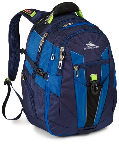 High Sierra XBT Daypack, True Navy/Royal Cobalt/Chartreuse