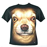 Plutoshirt| チワワ犬大きな顔 Extra Large Size Xl 新 T-Shirt Tシャツ (A248)