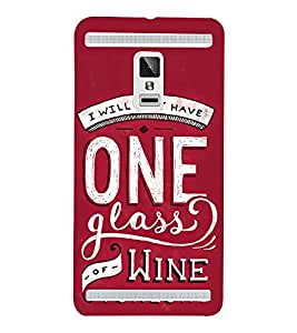 One Glass of Wine Tonight 3D Hard Polycarbonate Designer Back Case Cover for VIVO X3S