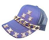 HSEC-8090029 (ドクロ付 キャップ )男女兼用 メッシュCAP キャップ メンズ 帽子 ぱんだ 動物 KIDS レディース ロゴ帽子 野球帽 紫外線防止 ユニセックス CAP ロゴ アニマル cap ヘッドアクセ