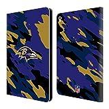 オフィシャル NFL カモフラージュ ボルティモア・レイブンズ ロゴ レザー手帳型ウォレットタイプケース Apple iPad Pro 9.7