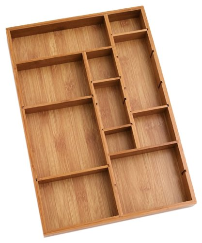 Lipper-International-Bamboo-Adjustable-Drawer-Organizer