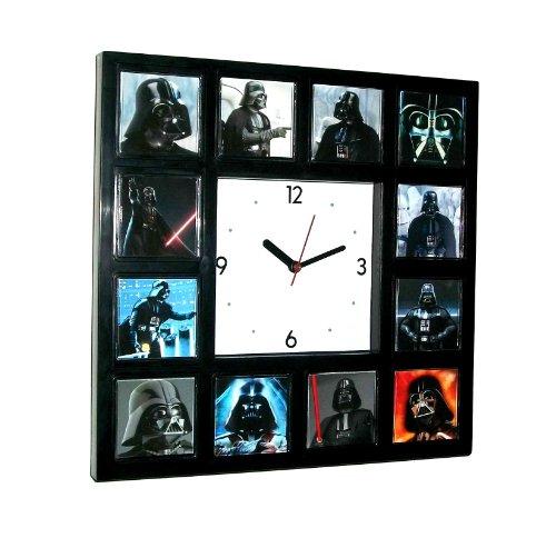 Star Wars the faces of Darth Vader square Clock (Darth Vaders Face)
