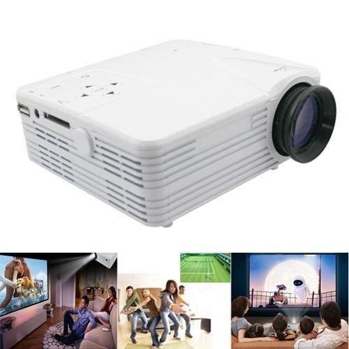 Aometech Home Cinema Theater Multimedia Led Lcd Projector Pc Av Tv Vga Usb Hdmi(White)
