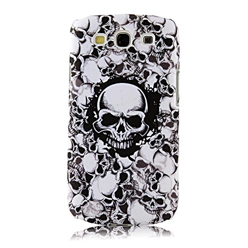 S3 Case, Galaxy S3 Case - Mollycoocle Fashion Style Colorful Painted Pattern Pc Hard Cover Case For Samsung Galaxy S3 I9300 T-Mobile T999 L710 Sprint/T999 T-Mobile/I747 At&T/I535 Verizon(Skull)