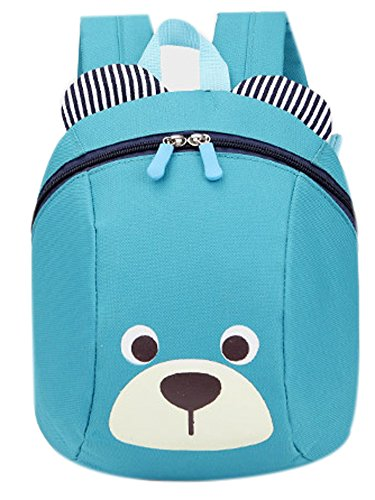 flyskying-cute-bear-backpack-oxford-baby-boys-girls-school-bagblue