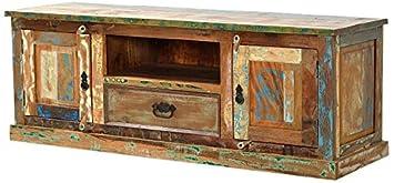 Sit-Möbel 9115-98 bajo, 2 puertas de madera, 1 cajón, 1 bolsillo abierto, 140 x 40 x 50 cm