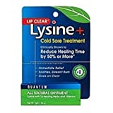 Quantum Lip Clear Lysine + Cold Sore Treatment Ointment, .25-Ounce Tubes (Pack of 4)