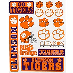 Buy Clemson Tigers Small Car Stickers by Football Fanatics