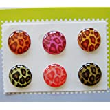 """""""Home"""" Button Sticker for iphone/ipad/itouch, Leopard, 6-in-1 pack"""