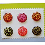 &quot;Home&quot; Button Sticker for iphone/ipad/itouch, Leopard, 6 Stickers Xtra-Funky Exclusive Home Button Stickers 6-in-1 pack For ?