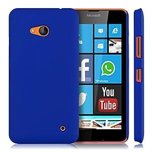 Newtronics Blue Rubbrized Matte Finish Hard Back Cover Case For Microsoft Nokia Lumia 640