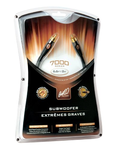 Bello Sw7408 High Performance Subwoofer Cable With 24K Gold Plated Connector Ends, Dual Gauge Transmission (8 Meters, Copper)