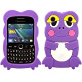 Frog Silicone Case Cover Skin For Blackberry Curve 9220 9320 / Purple