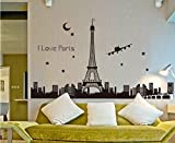 "UberLyfe ""Glow in Dark"" Eiffel Tower Skyline Wall Sticker (Wall Covering Area: 92cm x 165cm)"