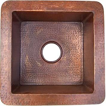 Terra Squared Hammered Bar Copper Sink