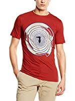 Trussardi Jeans Camiseta Manga Corta (Rojo / Beige)