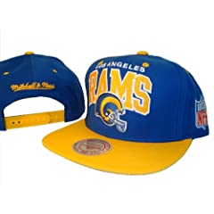 Los Angeles LA Rams Mitchell & Ness Adjustable Snap Back Baseball Cap Hat by MLB Snap Back Caps
