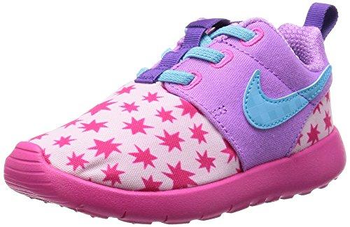 Nike Roshe One Print (TDV), Stivaletti bambine Multicolore Rosa / Azul (Prsm Pnk / Td Pl Bl-Fchs Glw-Pnk) 27