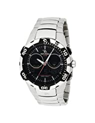 Rip Curl Men's A1029-BLK Shipstern Tidemaster 2 Black Stainless Steel Tide Watch