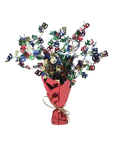 Creative Converting Foil Spray Table Centerpiece, 40 Piece