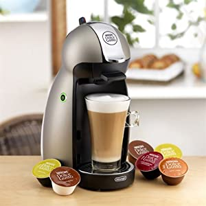 DeLonghi Nescafe Dolce Gusto Piccolo Plus Coffeemaker, Produces Gourmet Coffees, Lattes, Cappuccinos, Iced Drinks and more by Delonghi