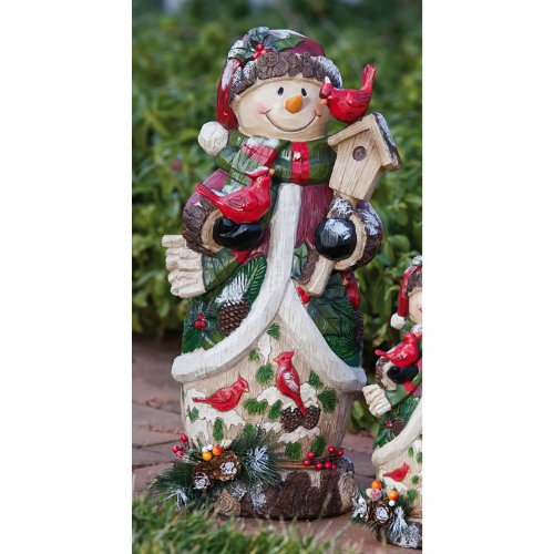 Gifted Living Berry and Pine Snowman Statue at Sears.com