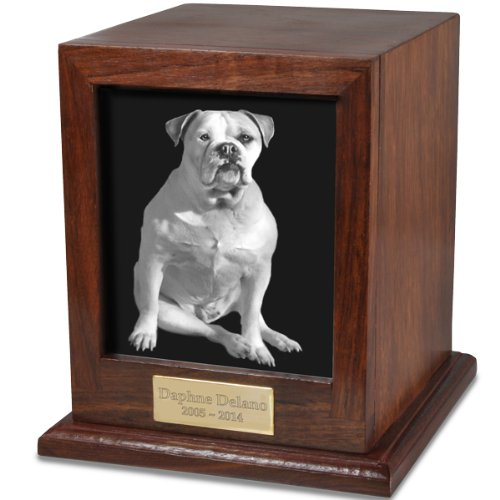 Custom Wood Personalized Engraved Pet Urn, Small