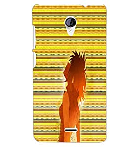 PrintDhaba Girl Impression D-2997 Back Case Cover for MICROMAX A106 UNITE 2 (Multi-Coloured)