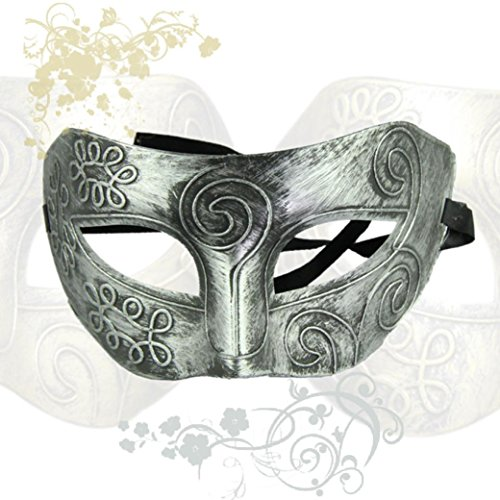 Bigban 1 PC Retro Roman Gladiator Halloween Party Facial Masquerade Mask (Silver) (2 Position Creeper compare prices)