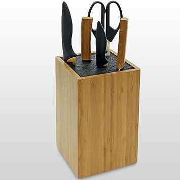 messerblock unbest ckt f r messer und haushaltshelfer aus bambus us41. Black Bedroom Furniture Sets. Home Design Ideas