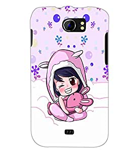 PrintDhaba Cartoon D-5865 Back Case Cover for MICROMAX A110 CANVAS 2 (Multi-Coloured)