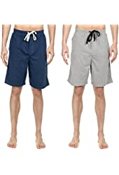 Noble Mount Mens 2-Pack Premium Knit Sleep/Lounge Shorts - Colors Available
