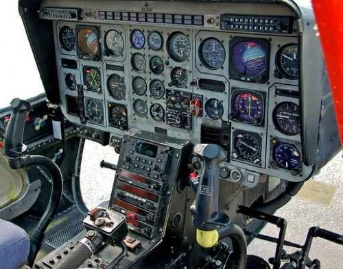 Urban Wall Decals Helicopter Cockpit And Control Panel - 24 Inches X 19 Inches - Peel And Stick Removable Graphic
