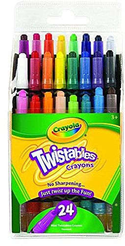 Bulk Buy: Crayola Mini Twistables Crayons 24/Pkg-8 Bright 8 Neon 8 Rainbow Colors (2-Pack)