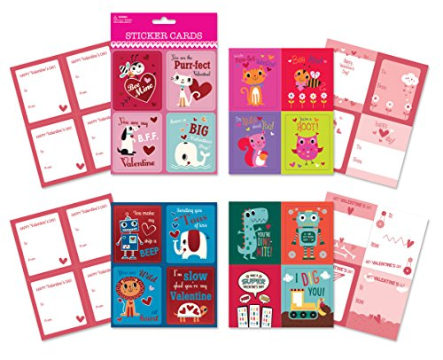 Valentine Day School Sticker Cards
