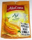 AlaCena Salsa de Aji Molido Yellow Hot Pepper Sauce 100 ML.