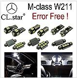 ベンツ Eクラス W211 セダン / ワゴン ('06.9-'09.4) 【 室内灯 パーフェクトセット】20カ所 LED Mercedes-Benz キャンセラー内蔵  ルームランプ セット 6000K