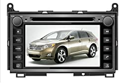 See AupTech 2008-On Toyota Venza DVD Player Android System GPS Navigation Radio Stereo Video 2-Din HD Screen With Bluetooth,Wifi,3G,Build in Analog TV and Steering Wheel Control Details