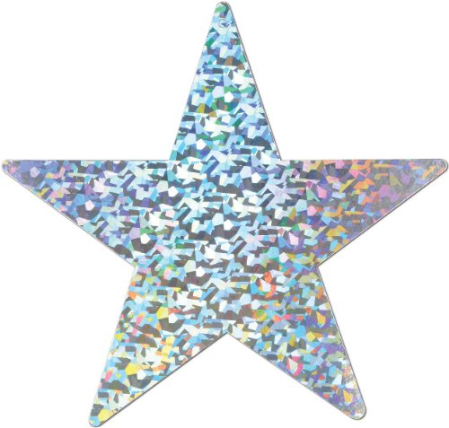 Prismatic Foil Star Cutout (silver) Party Accessory  (1 count) - 1