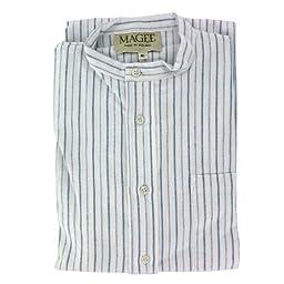 Men\'s Thin Blue Stripe Brushed Cotton Nightshirt