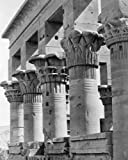 1800s Photo Columns Of Kiosk Of The Emperor Trajan (Pharaohs Bed), Philae, Eg B3