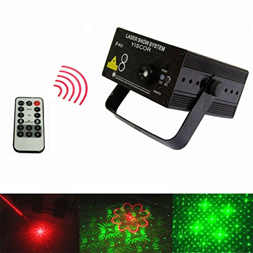 Yiscortm Stage Lighting Led Laser Light Remote Control 40 Patterns Red Green Blue For Club Disc Home Garden Party Dj Wedding Effect