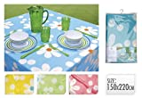 Green Plastic Flower Design Easy Clean 150x200cm Party Table Cloth Cover Tablecloth