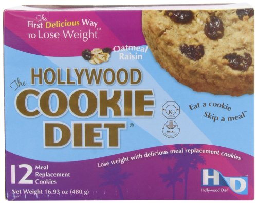Hollywood Cookie Diet Meal Replacement Cookies, Oatmeal Raisin, 16.93oz (12 pack) (Diet Food compare prices)
