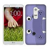 Head Case Designs Hippopotamus Animal Patches Soft Gel Back Case Cover for LG G2 D802