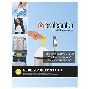 Brabantia Bin Liner A, 3 Litre - 60 Bags