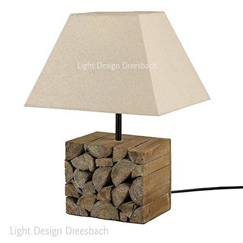 1er-Set-Tischleuchte-Tischlampe-Lampe-Leuchte-Holz-Schirm-in-beige-E14-ohne-Leuchtmittel