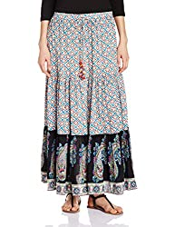 Rain and Rainbow Women's Skirt (SK-600-SS/110-28_Red_XX-Large)