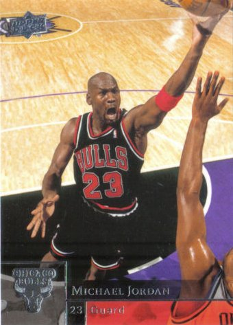 2009 / 2010 Michael Jordan Upper Deck Mint Basketball Card #23 with Jordan Pictured in Black Chicago Bulls Jersey. Card Is Shipped in Protective Screwdown Holder. at Amazon.com